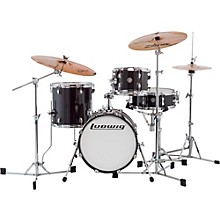 Breakbeats by Questlove 4-Piece Shell Pack Black Sparkle Chrome Hardware