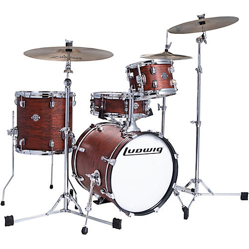 Ludwig Breakbeats by Questlove 4-Piece Shell Pack Mojave Red Swirl