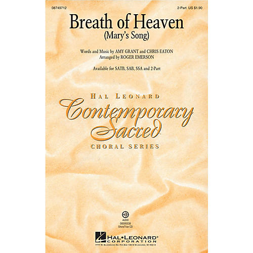 Hal Leonard Breath of Heaven (Mary's Song) 2-Part by Amy Grant arranged by Roger Emerson