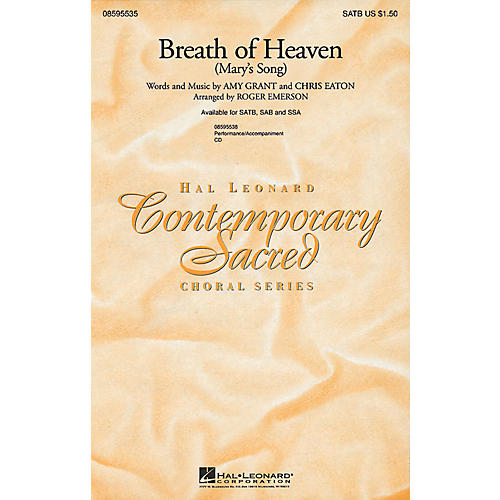 Hal Leonard Breath of Heaven (Mary's Song) SATB by Amy Grant arranged by Roger Emerson