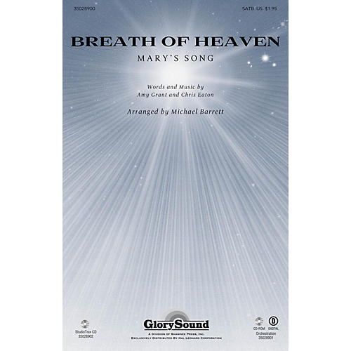 Shawnee Press Breath of Heaven (from All Is Well) ORCHESTRATION ON CD-ROM by Amy Grant Arranged by Joseph M. Martin