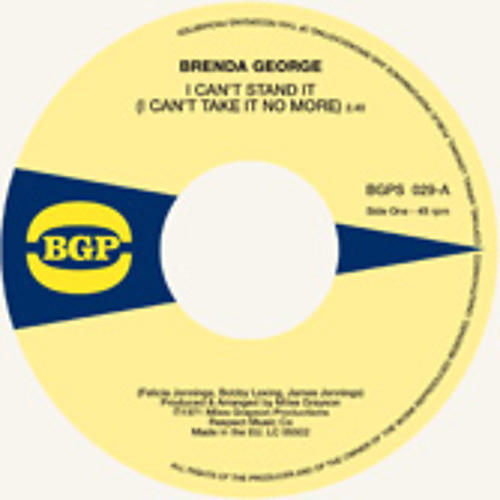 Alliance Brenda George - I Can't Stand It / What You See Is What You're