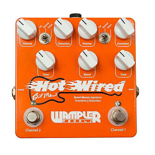 Wampler Brent Mason Signature Overdrive/Distortion Guitar Effects Pedal