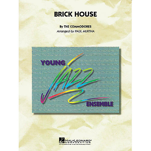 Hal Leonard Brick House Jazz Band Level 3 by The Commodores Arranged by Paul Murtha