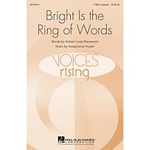 Hal Leonard Bright Is the Ring of Words TTBB A Cappella composed by Rosephanye Powell
