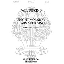 G. Schirmer Bright Morning Stars are Rising (SSAA a cappella) SSAA A Cappella composed by Traditional