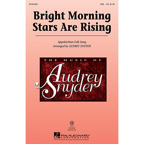 Hal Leonard Bright Morning Stars are Rising ShowTrax CD Arranged by Audrey Snyder