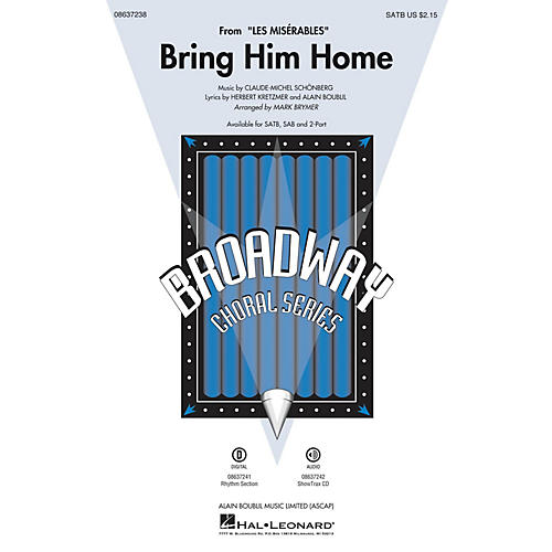 Hal Leonard Bring Him Home (from Les Misérables) 2-Part Arranged by Mark Brymer