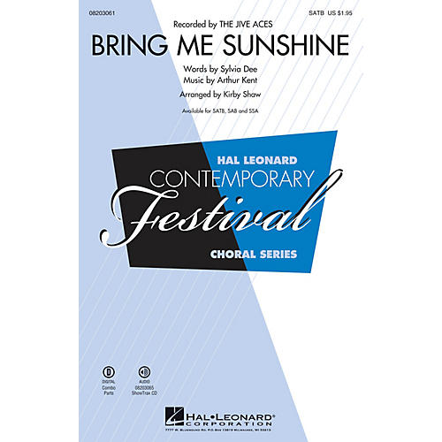 Hal Leonard Bring Me Sunshine ShowTrax CD Arranged by Kirby Shaw