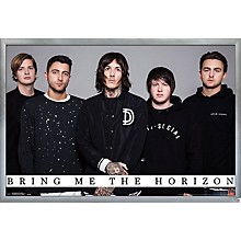 Bring Me The Horizon - Umbrella Poster Framed Silver