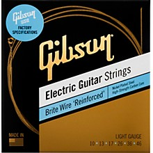 Gibson Brite Wire 'Reinforced' Electric Guitar Strings, Light Gauge