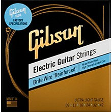 Gibson Brite Wire 'Reinforced' Electric Guitar Strings, Ultra Light Gauge