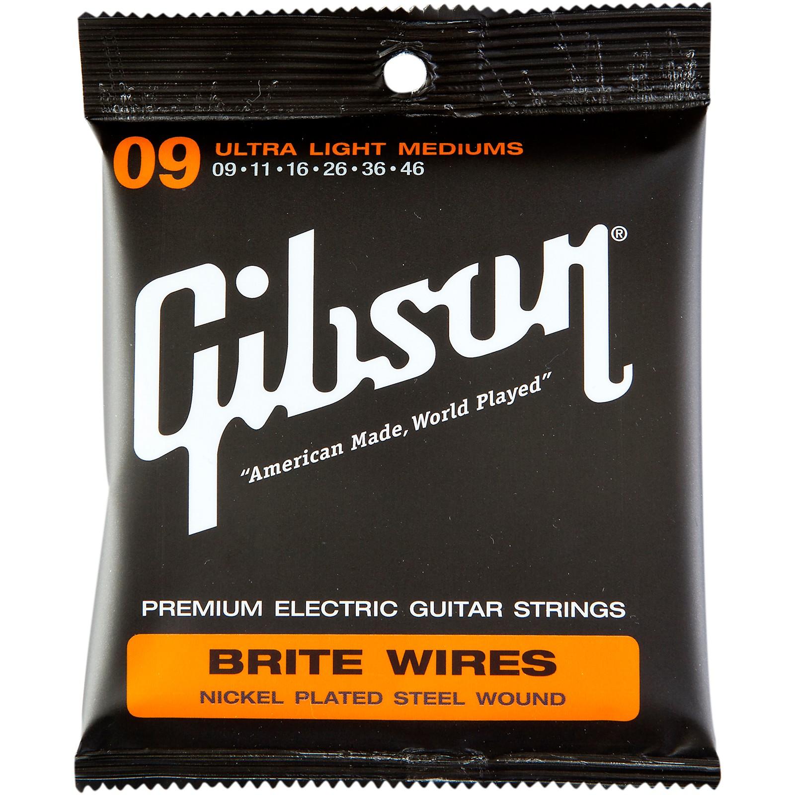 Gibson Brite Wires Ultra Light Custom Guitar Strings 3 Pack