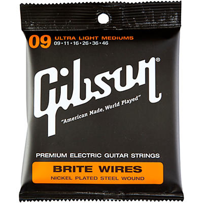Gibson Brite Wires Ultra Light Custom Guitar Strings 3 Pack