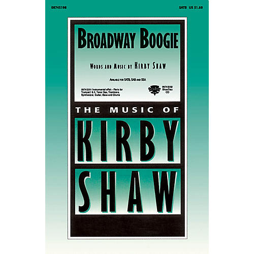 Hal Leonard Broadway Boogie ShowTrax CD Composed by Kirby Shaw