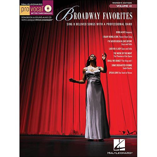 Hal Leonard Broadway Favorites - Pro Vocal Songbook for Female Singers Volume 41 Book/CD
