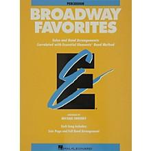Hal Leonard Broadway Favorites Percussion Essential Elements Band