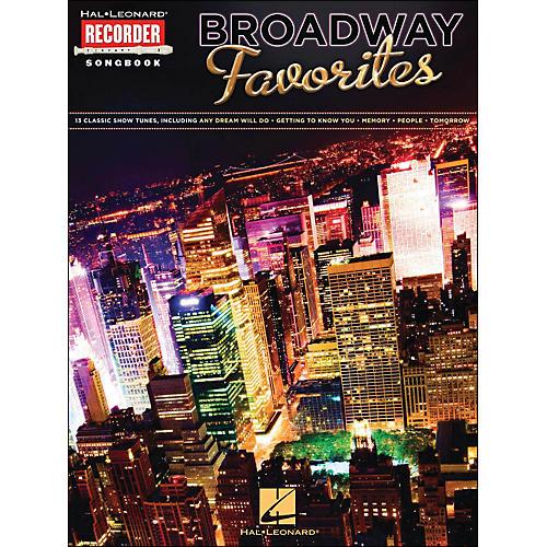 Hal Leonard Broadway Favorites Recorder Songbook