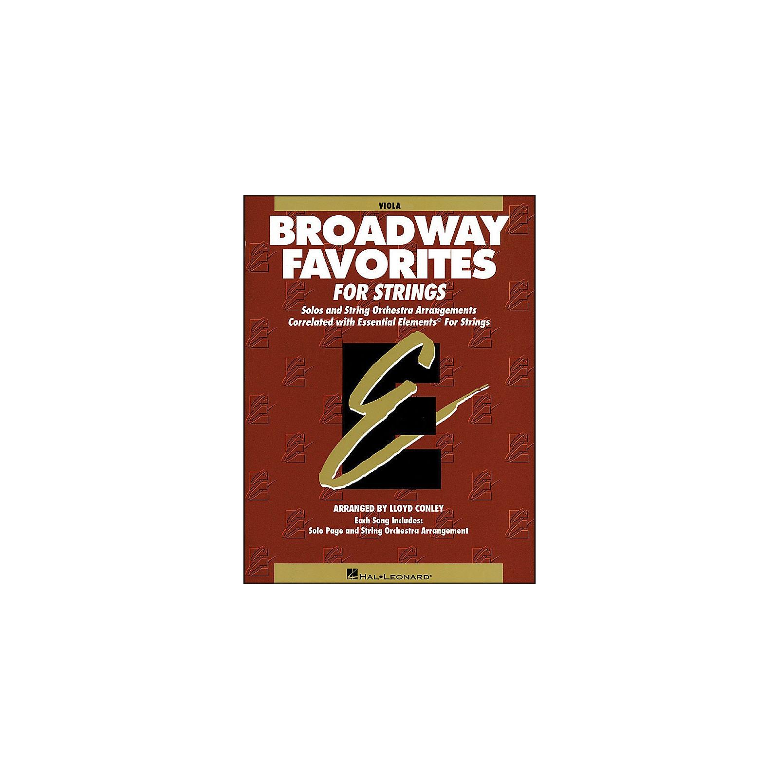 Hal Leonard Broadway Favorites for Strings Viola Essential Elements