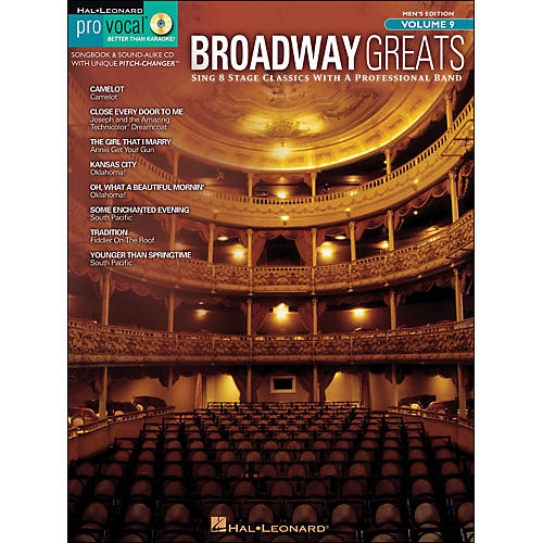 Hal Leonard Broadway Greats - Pro Vocal Songbook & CD for Male Singers Volume 9