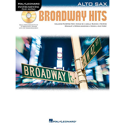 Hal Leonard Broadway Hits For Alto Sax - Instrumental Play-Along Book/CD