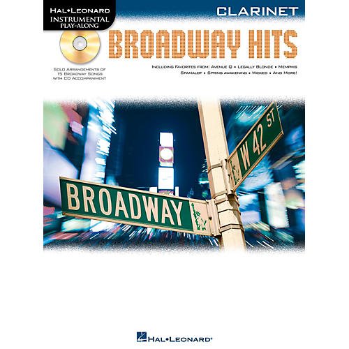 Hal Leonard Broadway Hits For Clarinet - Instrumental Play-Along Book/CD