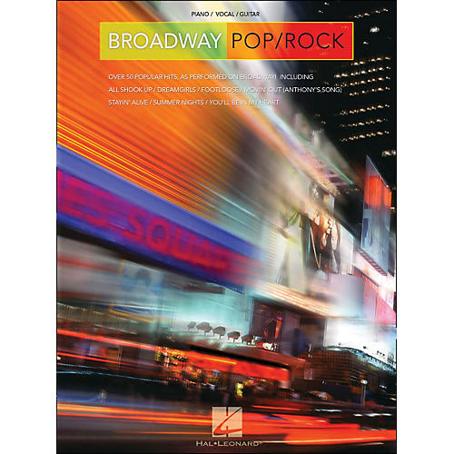Hal Leonard Broadway Pop/Rock arranged for piano, vocal, and guitar (P/V/G)