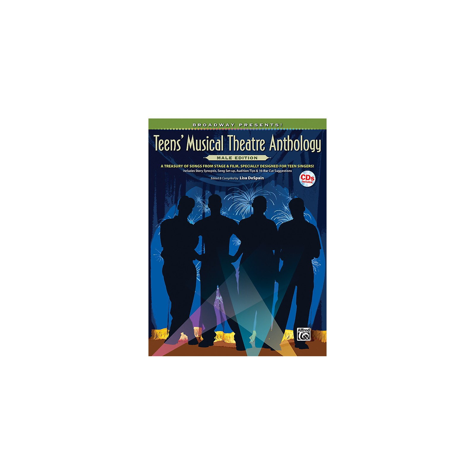 Alfred Broadway Presents! Teens' Musical Theatre Anthology Male Edition Book & Online Audio