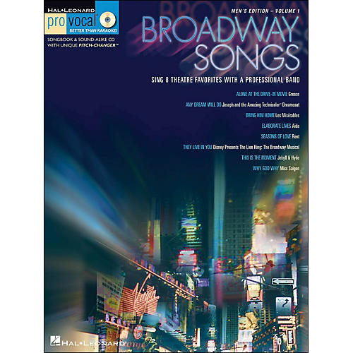 Hal Leonard Broadway Songs - Pro Vocal Series Volume 1 Men's Edition Book/CD