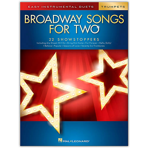 Hal Leonard Broadway Songs for Two Trumpets - Easy Instrumental Duets