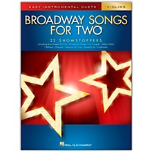 Hal Leonard Broadway Songs for Two Violins - Easy Instrumental Duets