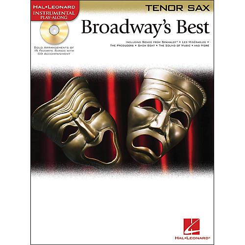 Hal Leonard Broadway's Best For Tenor Sax Book/CD