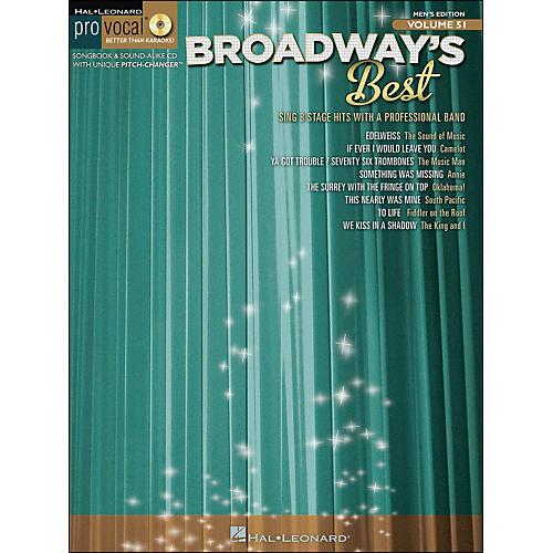 Hal Leonard Broadway's Best Pro Vocal Songbook & CD for Male Singers Volume 51