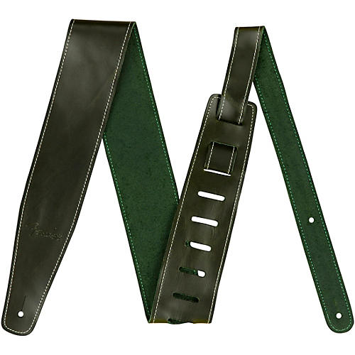 Fender Broken-In Leather Strap Green 2.5 in.