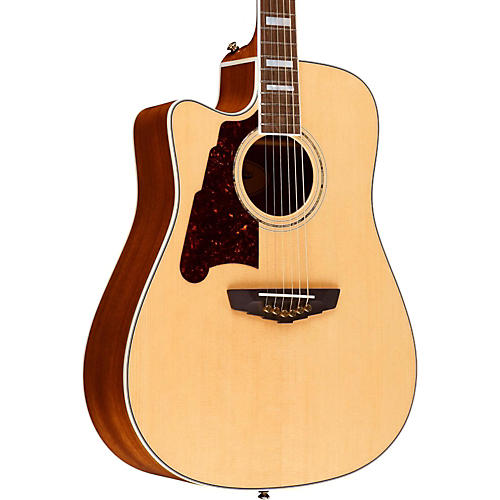 D'Angelico Brooklyn Dreadnought Left-Handed Cutaway Acoustic-Electric Guitar