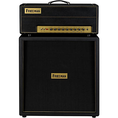 Friedman Brown Eye 100W 2-Channel Tube Guitar HeadBlackwith4x12 Guitar Cabinet