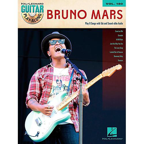 Hal Leonard Bruno Mars - Guitar Play-Along Volume 180 Book/Audio Online