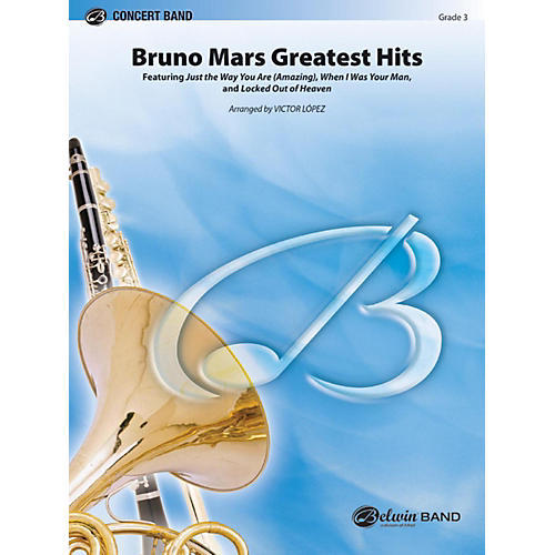 Alfred Bruno Mars Greatest Hits Concert Band Grade 3