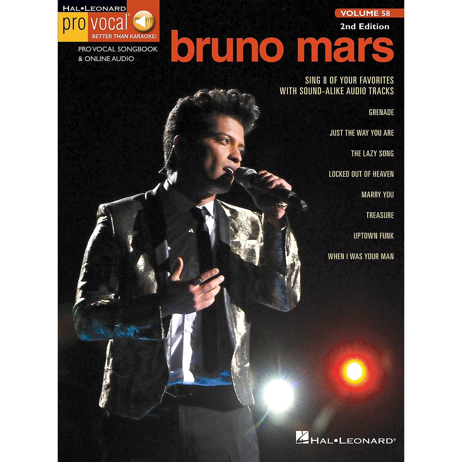 Hal Leonard Bruno Mars (Pro Vocal Men's Edition Volume 58) Pro Vocal Series Softcover Audio Online
