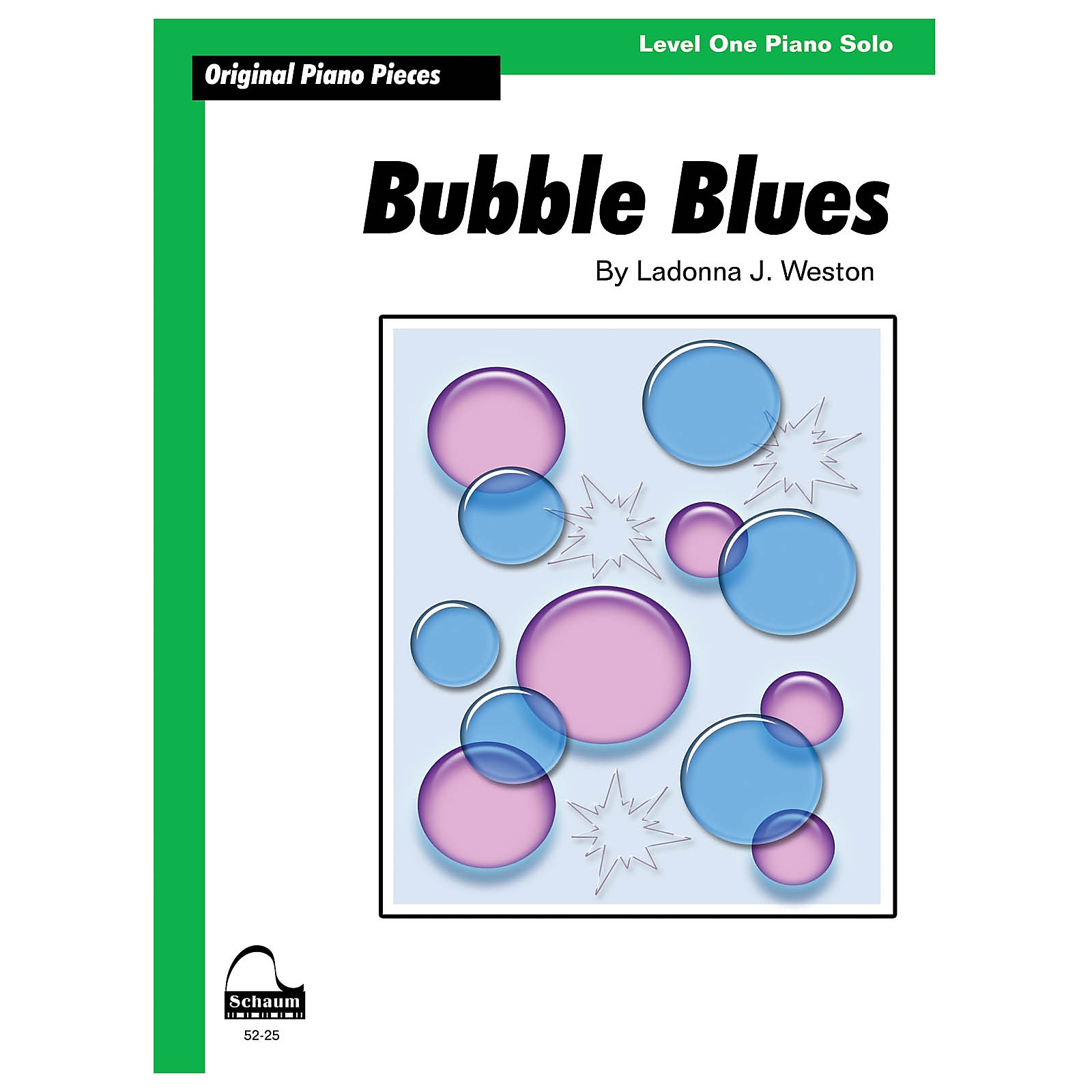 SCHAUM Bubble Blues Educational Piano Book by Ladonna J. Weston (Level 1)