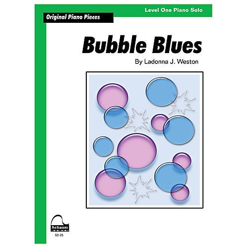 SCHAUM Bubble Blues Educational Piano Book by Ladonna J. Weston (Level 1)