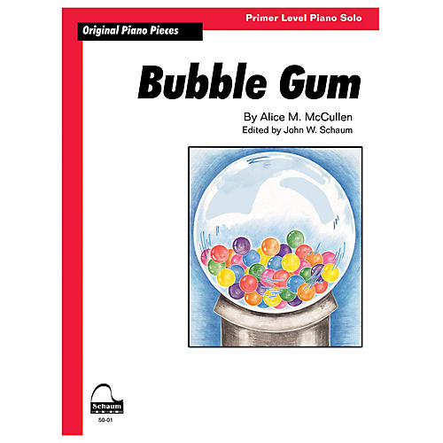 SCHAUM Bubble Gum Educational Piano Series Softcover