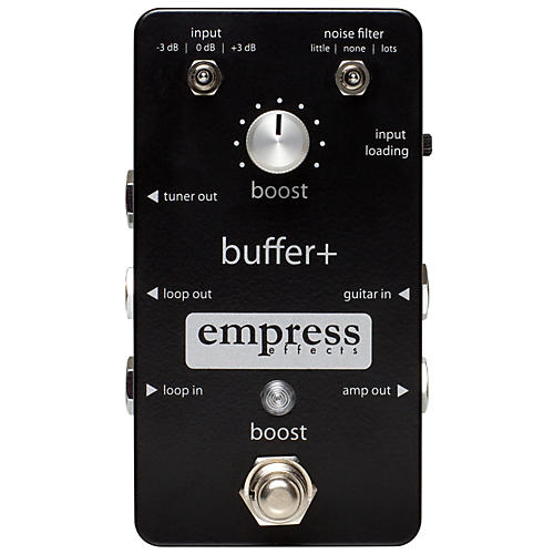 Buffer+ Analog I/O Interface Guitar Pedal with Switchable Boost