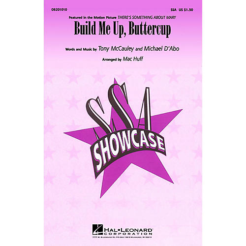 Hal Leonard Build Me Up Buttercup ShowTrax CD Arranged by Mac Huff