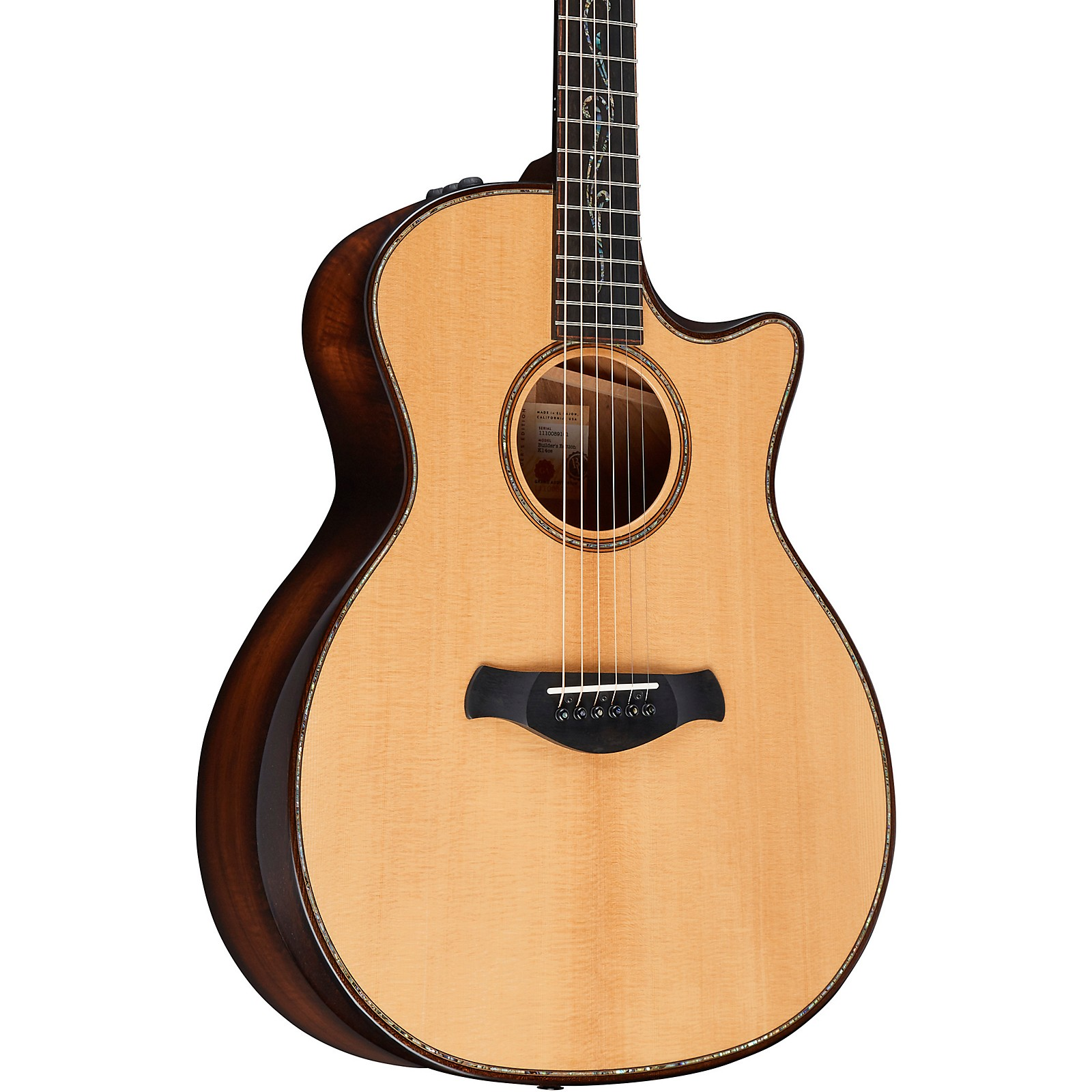 Taylor Builder's Edition K14ce V-Class Grand Auditorium Acoustic Electric Guitar