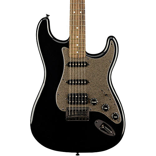 Squier Bullet Stratocaster HSS Hardtail Limited Edition Electric Guitar with Black Hardware Black Metallic