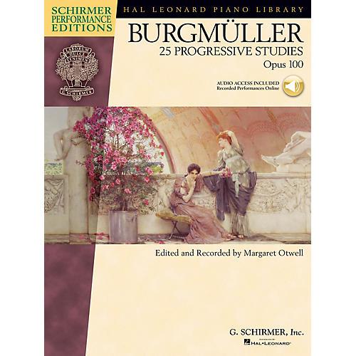 G. Schirmer Burgmüller - 25 Progressive Studies, Opus 100 Schirmer Performance Edition BK/Audio Online