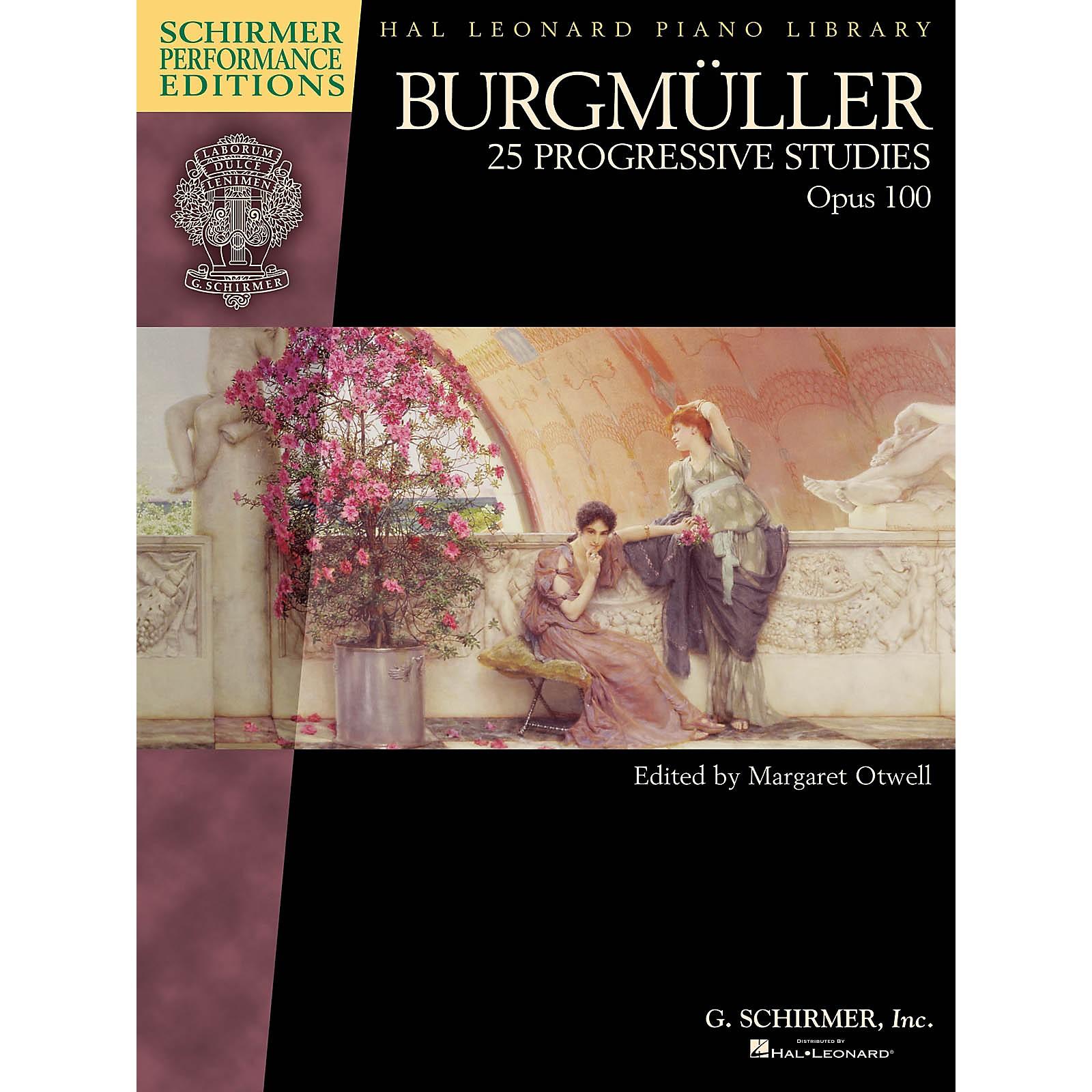 G. Schirmer Burgmuller - 25 Progressive Studies, Op 100 Schirmer Performance Editions by Burgmuller Edited by Otwell