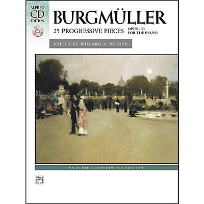 Alfred Burgmuller 25 Progressive Pieces Op. 100 Early Intermediate/Late Intermediate Piano Book & CD
