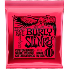 Ernie Ball Burly Slinky Nickel Wound Electric Guitar Strings (11-52)